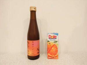 豊潤サジーとオレンジジュース
