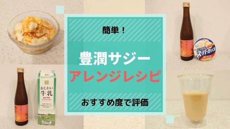 豊潤サジーアレンジレシピ