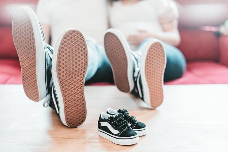 親子の靴の裏